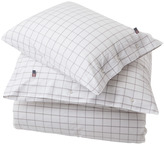 Lexington Company Lexington American Country Check Pin Point Oxford White/Grey Duvet Cover - 140x200