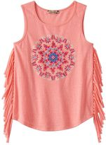 Speechless Girls 7-16 Fringed Knit Tank Top