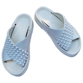 Christian Louboutin White Leather Sandals