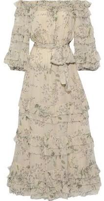 Zimmermann Unbridled Off-the-shoulder Floral-print Silk-georgette Midi Dress