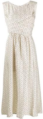 L'Autre Chose apostrophe-print flared dress