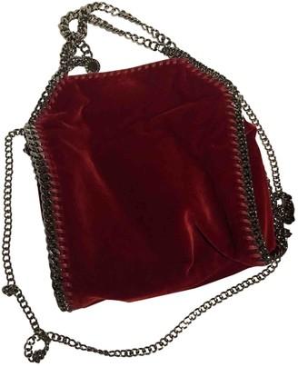 Stella McCartney Stella Mc Cartney Falabella Burgundy Velvet Handbags