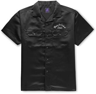 Carhartt Wip + Motown Records Camp-Collar Logo-Embroidered Satin Shirt