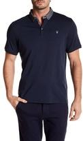English Laundry Printed Collar Short Sleeve Polo