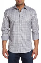 Bugatchi Men's Shaped Fit Check Sport Shirt