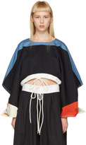 Chloé Black Cropped Drawstring T-Shirt