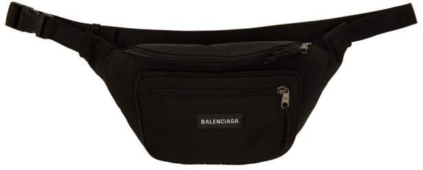 Balenciaga Black Nylon Explorer Belt Pouch