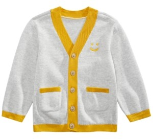 First Impressions Baby Boys Smiley-Face Cardigan, Created for Macy's