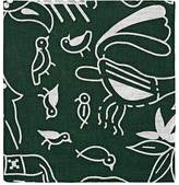 Barneys New York MEN'S ANIMAL & FLORAL-PRINT LINEN POCKET SQUARE