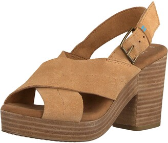 Toms Women's Lightweight Platform Wedge Sandal Heeled