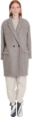Isabel Marant Filipo Coat In Beige Wool