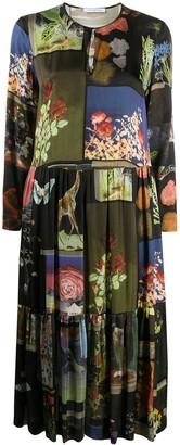 VIVETTA Printed Patch-Work Dress