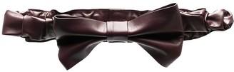 Red(V) Oversize Bow Leather Belt