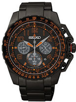 Seiko Black Stainless Steel Watch