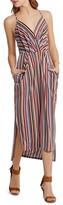BCBGeneration Striped Midi Dress