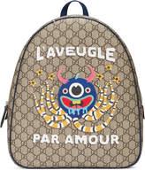 Gucci Children's GG Supreme monster backpack