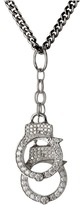 King Baby Studio Handcuff Pendant Pave CZ Necklace Necklace