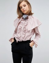 Sister Jane Blouse With Ruffles And Shoulder Details