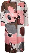 Paule Ka collarless floral coat