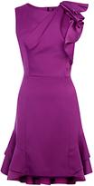Karen Millen Shoulder Ruffle Pencil Dress, Purple