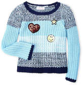 Design History Girls 4-6x) Color Block Patch Sweater