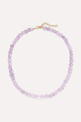 Harris Zhu - 14-karat Gold And Amethyst Necklace - Purple