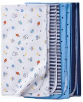 Gerber Baby Boys' 4 Pack Flannel Blanket Set Monkeys