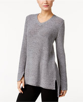Style&Co. Style & Co V-Neck High-Low Sweater, Only at Macy's
