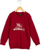 Burberry Boys' Logo Pattern Pullover Sweatshirt