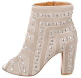 Rebecca Minkoff Studded Suede Booties