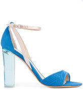 Monique Lhuillier clear heel sandals - women - Leather/Suede - 35