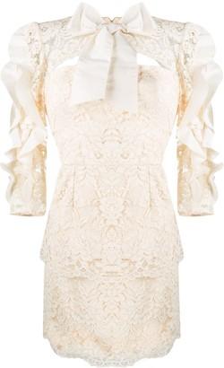 Elisabetta Franchi Lace Mini Dress