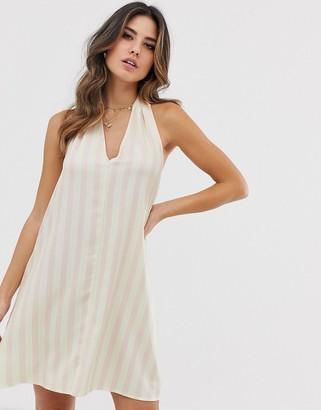 UNIQUE21 halter neck dress-White
