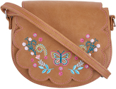 Accessorize Folk Floral Saddle Bag