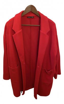 Zara Red Polyester Jackets