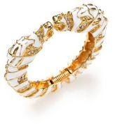 Kenneth Jay Lane Zebra Head Enamel Bangle Bracelet