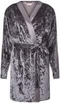 Dorothy Perkins Charcoal Velvet Dressing Gown