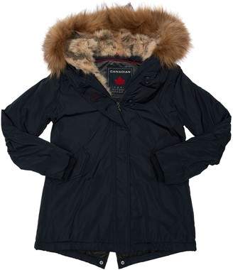 Canadian Water Resistant Nylon Parka W/ Fur