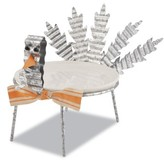 Mud Pie Turkey Plate & Stand Set