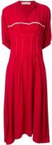 Marni short-sleeve flared dress
