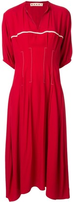 Marni Short-Sleeve Flared Dress