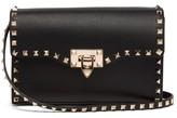 Valentino Garavani - Rockstud Small Leather Cross-body Bag - Womens - Black