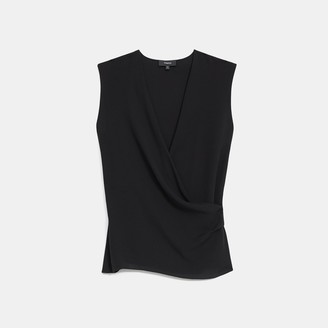 Theory Draped Shell Top in Silk