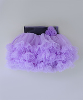 Tutus by Tutu AND Lulu Purple Chiffon Tiered Tutu - Infant