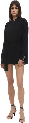 Proenza Schouler Belted Crepe De Chine Mini Dress