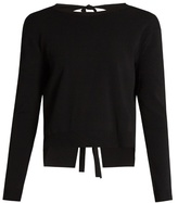 Valentino Tie-back crew-neck sweater
