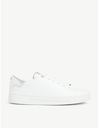 Ted Baker Zenis Metallic Leather Trainers