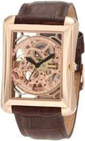 Akribos XXIV Men's AK426RG Bravura Automatic Skeleton Rose -Tone Watch