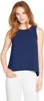 White House Black Market Sleeveless A-line Top