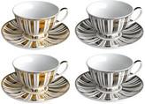 Pols Potten Gold & Silver Stripes Tea Set - Set of 4